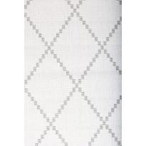 Matto Elementa 140x200cm, valkoinen/vaaleanharmaa