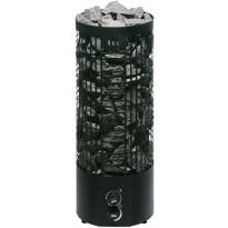 Sähkökiuas Mondex Tahko M, 6.6kW, 6-9m³, kiinteä ohjaus, musta