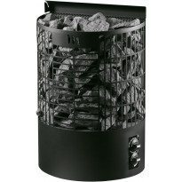 Sähkökiuas Teno M 6,6kW (6-9m³), musta