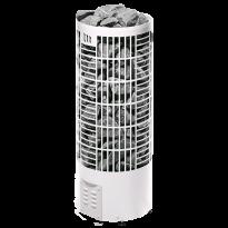 Sähkökiuas Pipe E-malli, 9,0kW (8-15m³), valkoinen