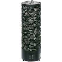 Sähkökiuas Pipe E-malli, 9,0kW (8-15m³), musta