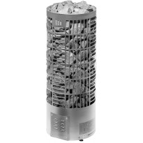 Sähkökiuas Tahko E-malli, 6,6kW (6-9m³) steel