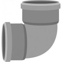 Viemärin muhvikulma Meltex, HT, Ø110 mm, 88,5°, jyrkkä