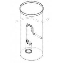 Meltex MX-pumppukaivo perusvesille, Ø560x1000 mm, muovikansi
