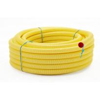 Kaapelinsuojaputki Meltex, TEL B, Ø50 mm x 50 m, keltainen, vetolangalla