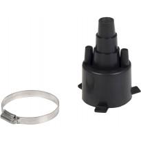 Eristetyn putken päätyhattu Meltex, Single, Ø25-40/75 mm