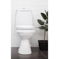 WC-istuin Wostman EcoFlush, kaksoishuuhtelu, valkoinen