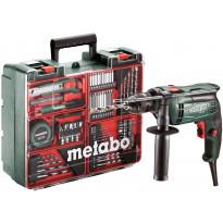 Iskuporakonesetti Metabo SBE 650 Mobile Workshop, 650W + tarvikesarja