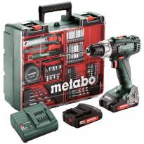 Akkuporakone Metabo BS 18 L Mobile Workshop, 18V, 2x2.0Ah akuilla + tarvikesarja