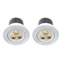 LED-alasvalosarja Markslöjd Lambda, 3x3W, 2 kpl, valkoinen