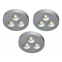 LED-alasvalosarja Markslöjd Kappa, 3x1W, 3 kpl, alumiini
