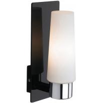 Seinävalaisin Markslöjd Månstad LED 90x115x230 mm musta/opaali IP44