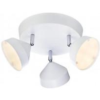 LED-kattospotti Markslöjd Tratt Ø 320x180 mm 3-osainen valkoinen