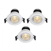 LED-alasvalosarja Markslöjd Apollo, 3 kpl, valkoinen
