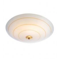 LED-plafondi Markslöjd Lyon, Ø 43cm, valkoinen/kulta
