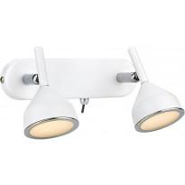 LED-seinäspotti Markslöjd Bell 190x110x105 mm 2-osainen valkoinen