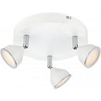 LED-kattospotti Markslöjd Bell Ø 205x105 mm 3-osainen valkoinen