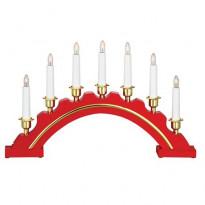 Kynttelikkö Markslöjd, Celine, 46x5x28 cm, 7-osainen, puu, punainen