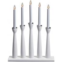 Kynttelikkö Måseskär 5-osainen puu valkoinen