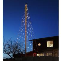 Lipputangon valosarja Markslöjd Ecolight Flagpole, LED, 9 m, 400 valoa, IP44, vihreä
