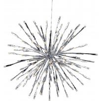 Valokoriste Hydra LED Ø 30 cm 80 valoa hopea IP44