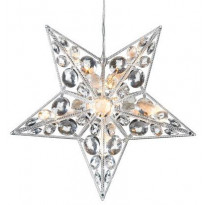 LED-valotähti Markslöjd, Härnösand, 30x7.5x30 cm, akryyli, läpinäkyvä