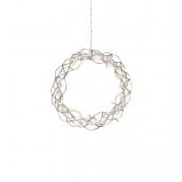 LED-valokoriste Markslöjd, Aura, seppele, Ø 30 cm, kupari