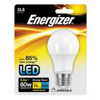 LED-lamppu Energizer GLS, E27, 9,2W, valkoinen, himmennettävä