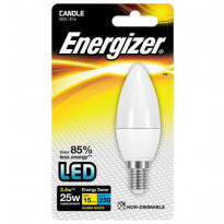 LED-lamppu Energizer Candle, E14, 3,4W, valkoinen