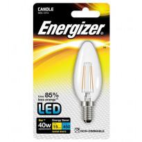 LED-lamppu Energizer Filament Candle, E14, 4W, kirkas