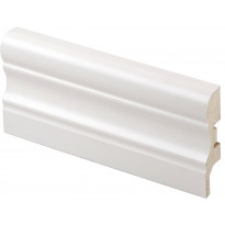Jalkalista Maler 16x60x2750 mm MDF Koriste valkoinen
