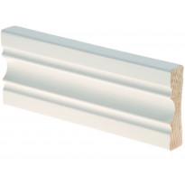 Peitelista Maler Aura, 16x60x2200mm, mänty, valkoinen