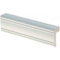 Reunalista Maler Aura, 21x42/13x2200mm, mänty, valkoinen