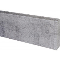 Jalkalistan päätykappale Maler PVC, oikea, 22x75mm, harmaa tammi