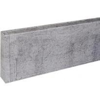 Jalkalistan päätykappale Maler PVC, vasen, 22x75mm, harmaa tammi