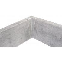 Jalkalistan sisäkulma Maler PVC, 22x75mm, harmaa tammi