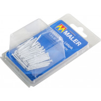 Listanaulat Maler, valkoinen, 1.8x40mm, valkoinen, 40kpl