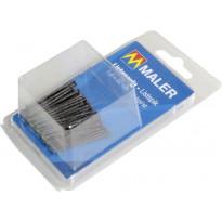 Listanaulat Maler, musta, 1.8x40mm, musta, 40kpl