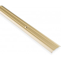 Saumalista Maler uritettu, 3.5x25x2000mm, alumiini, ruuvi, kulta anodisoitu