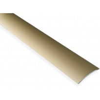 Saumalista Maler sileä, 5x40x1000mm, alumiini, tarra, kulta anodisoitu