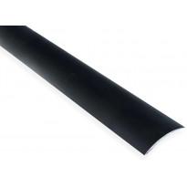 Eritasolista Maler sileä, 0-10mm, 6.2x41x2000mm, alumiini, tarra, musta anodisoitu