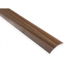 Eritasolista Maler sileä, 0-10mm, 6.2x41x2000mm, alumiini, tarra, pähkinä