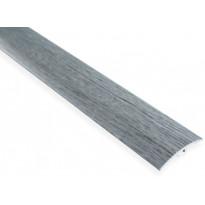 Eritasolista Maler sileä, 0-10mm, 5x40x1000mm, alumiini, tulppa, harmaa tammi