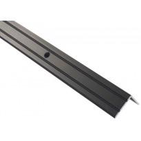 Askelkulmalista Maler uritettu, 25x20x2000mm, alumiini, ruuvi, musta anodisoitu