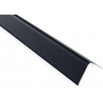 Askelkulmalista Maler uritettu, 35x35x2000mm, alumiini, tarra, musta anodisoitu