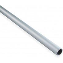 Putki Maler sileä, 1x15x1000mm, alumiini, hopea anodisoitu