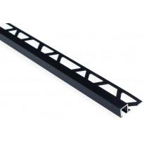 Laattalista Maler neliö, H8x24x2500mm, alumiini, musta anodisoitu