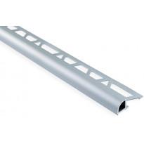 Laattalista Maler pyöreä, H10x26x2500mm, alumiini, hopea anodisoitu