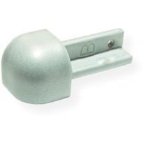 Laattalistan ulkokulmapala Maler pyöreä, H8, alumiini, hopea maalattu