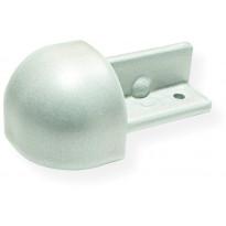 Laattalistan ulkokulmapala Maler pyöreä, H10, alumiini, hopea maalattu